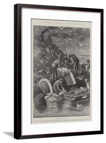 A Whaling Station on the Pacific Coast-Paul Frenzeny-Framed Art Print