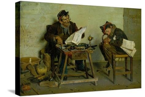 A Political Cobbler, 1873-Orfeo Orfei-Stretched Canvas Print