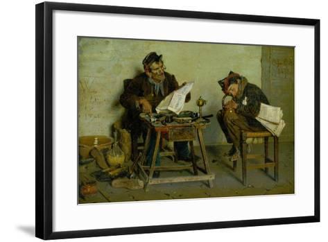 A Political Cobbler, 1873-Orfeo Orfei-Framed Art Print