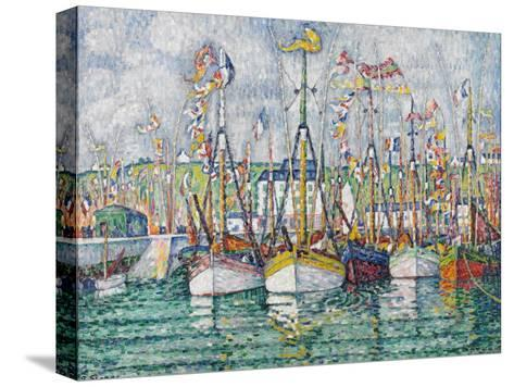 Blessing of the Tuna Fleet at Groix, 1923-Paul Signac-Stretched Canvas Print