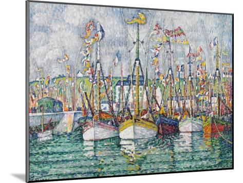 Blessing of the Tuna Fleet at Groix, 1923-Paul Signac-Mounted Giclee Print