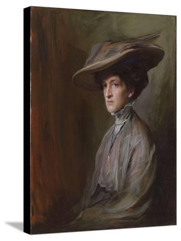 Mrs. Herbert Asquith, Later Countess of Oxford and Asquith, 1909-Philip Alexius De Laszlo-Stretched Canvas Print