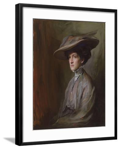 Mrs. Herbert Asquith, Later Countess of Oxford and Asquith, 1909-Philip Alexius De Laszlo-Framed Art Print