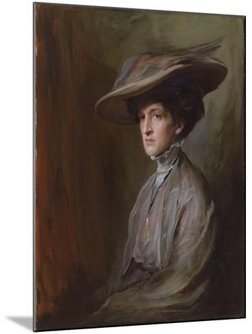 Mrs. Herbert Asquith, Later Countess of Oxford and Asquith, 1909-Philip Alexius De Laszlo-Mounted Giclee Print