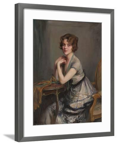 Portrait of Winnie Melville, Mrs, 1920-Philip Alexius De Laszlo-Framed Art Print