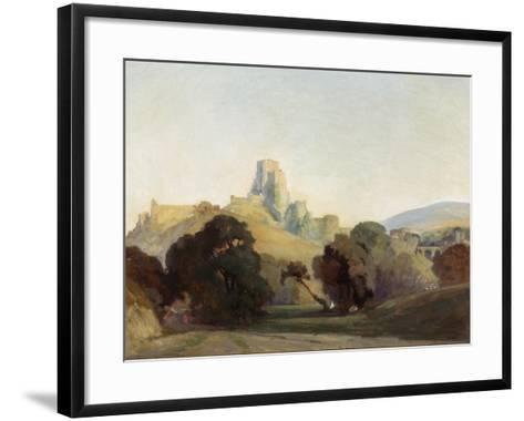 Corfe Castle, 1909-Niels Moller Lund-Framed Art Print