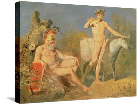 Mercury and Argus, 1862-Nikolai Efimovich Efimov-Stretched Canvas Print