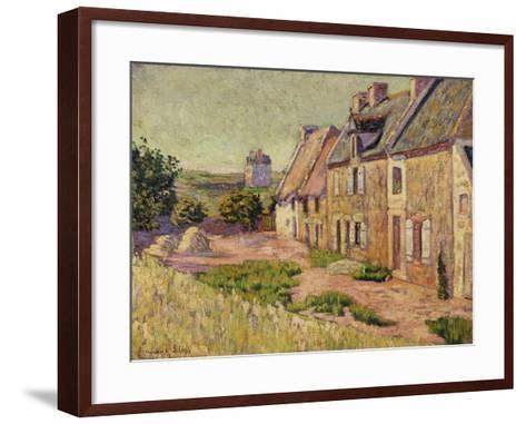 Saint-Briac, Cour a La Ville Hue, 1885-Paul Signac-Framed Art Print