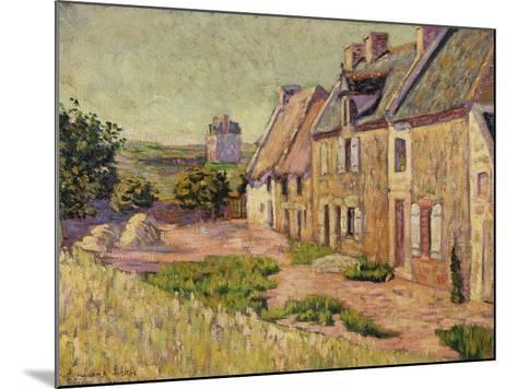 Saint-Briac, Cour a La Ville Hue, 1885-Paul Signac-Mounted Giclee Print