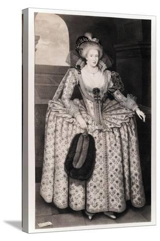 Queen Anne of Denmark-Paul van Somer-Stretched Canvas Print