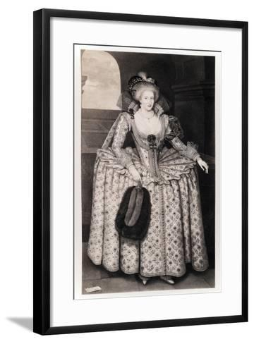 Queen Anne of Denmark-Paul van Somer-Framed Art Print