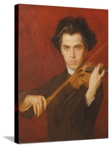 Jan Kubelik (1880-1940), 1903-Philip Alexius De Laszlo-Stretched Canvas Print