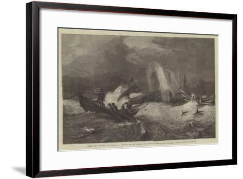 South Sea Whaling, in the General Exhibition of Water-Colour Drawings, Dudley Gallery-Oswald Walters Brierly-Framed Art Print