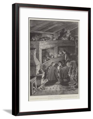 Winter in China, a Chinese Rest-House-Paul Frenzeny-Framed Art Print