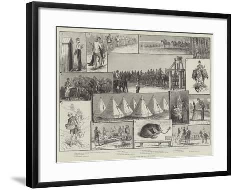 In Camp with the 2nd Life Guards-Paul Frenzeny-Framed Art Print