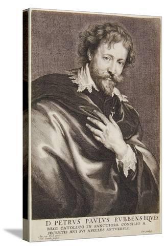 Portrait of Rubens, Icones Principum Virorum, 1630-45-Paulus Pontius-Stretched Canvas Print