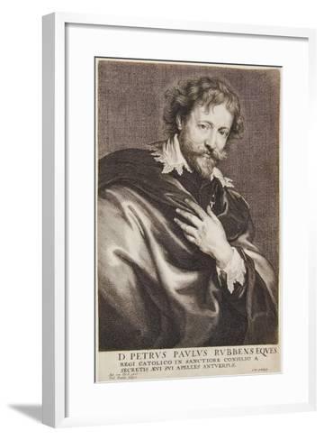 Portrait of Rubens, Icones Principum Virorum, 1630-45-Paulus Pontius-Framed Art Print