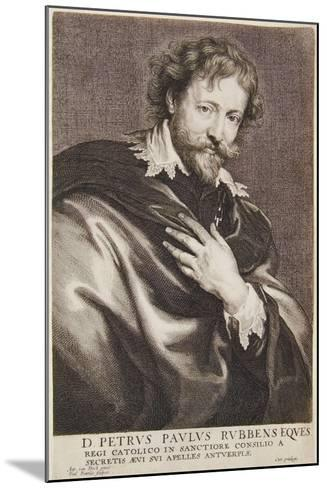 Portrait of Rubens, Icones Principum Virorum, 1630-45-Paulus Pontius-Mounted Giclee Print