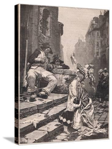 Paris under the Reign of Terror: a Vain Appeal-Pavel Alexandrovich Svedomsky-Stretched Canvas Print