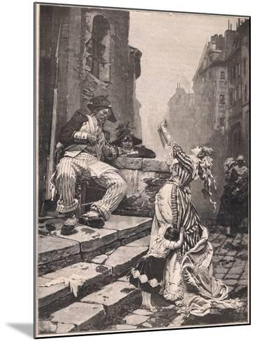 Paris under the Reign of Terror: a Vain Appeal-Pavel Alexandrovich Svedomsky-Mounted Giclee Print