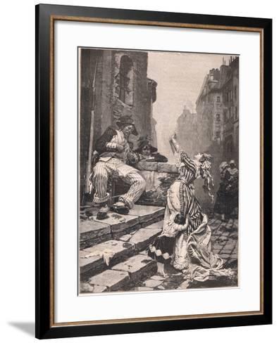 Paris under the Reign of Terror: a Vain Appeal-Pavel Alexandrovich Svedomsky-Framed Art Print
