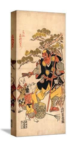Benkei to Kodomo (Ataka No Matsu)-Nishimura Shigenaga-Stretched Canvas Print