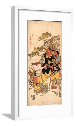 Benkei to Kodomo (Ataka No Matsu)-Nishimura Shigenaga-Framed Art Print