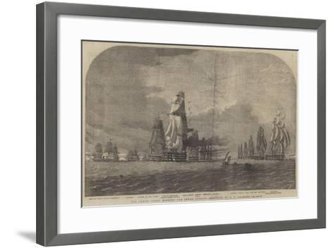 The Baltic Fleet Running for Dover Straits-Oswald Walters Brierly-Framed Art Print