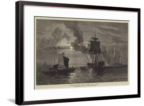 South Sea Whalers Boiling Blubber-Oswald Walters Brierly-Framed Art Print