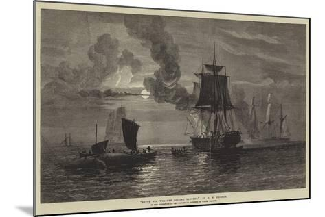 South Sea Whalers Boiling Blubber-Oswald Walters Brierly-Mounted Giclee Print