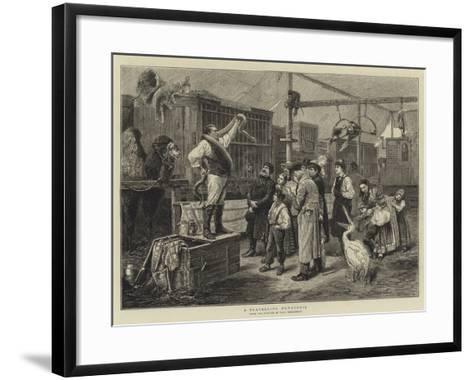A Travelling Menagerie-Paul Friedrich Meyerheim-Framed Art Print
