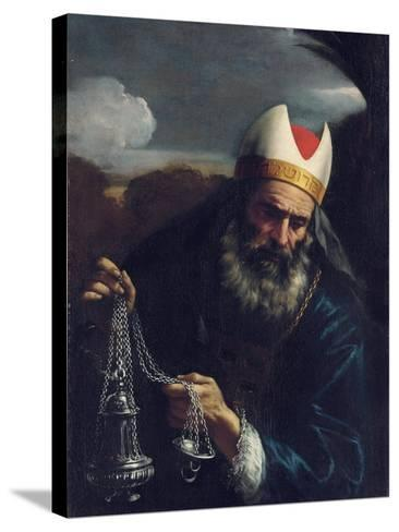 Aaron, High Priest of the Israelites, Holding a Censer-Pier Francesco Mola-Stretched Canvas Print