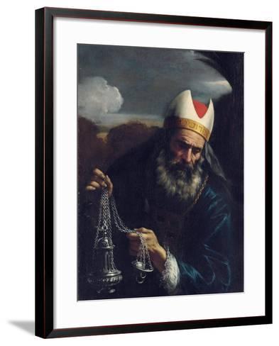 Aaron, High Priest of the Israelites, Holding a Censer-Pier Francesco Mola-Framed Art Print