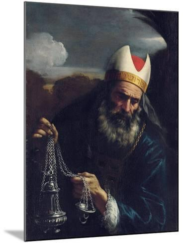 Aaron, High Priest of the Israelites, Holding a Censer-Pier Francesco Mola-Mounted Giclee Print