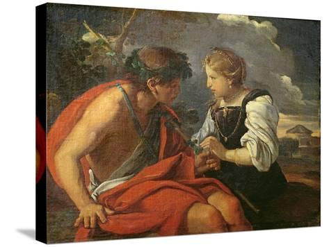 Bacchus and Ariadne-Pier Francesco Mola-Stretched Canvas Print