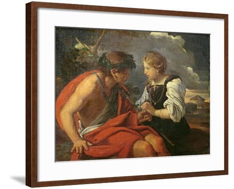 Bacchus and Ariadne-Pier Francesco Mola-Framed Art Print