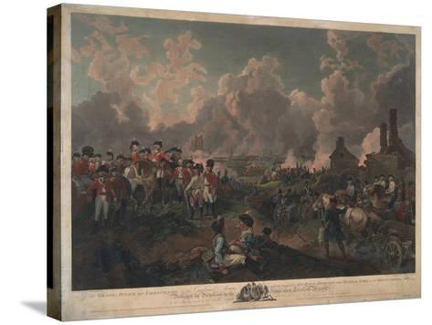 Grand Attack on Valenciennes-Philippe De Loutherbourg-Stretched Canvas Print