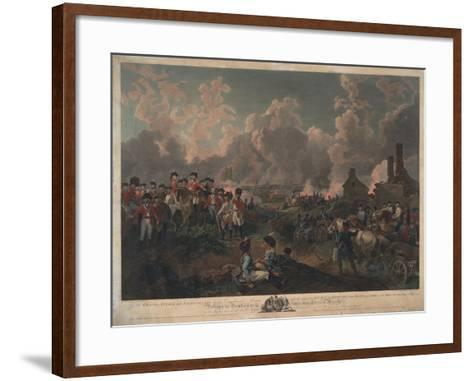 Grand Attack on Valenciennes-Philippe De Loutherbourg-Framed Art Print
