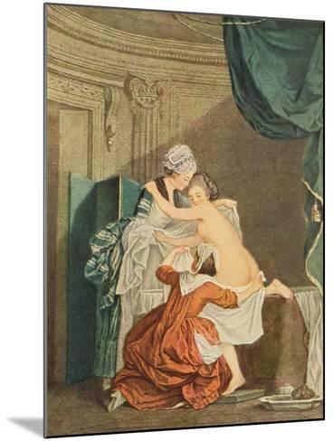 The Bath, by Nicolas Francois Regnault-Pierre Antoine Baudouin-Mounted Giclee Print
