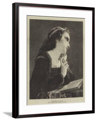 Meditation-Pierre-Auguste Cot-Framed Art Print