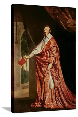 Portrait of Cardinal De Richelieu (1633-40)-Philippe De Champaigne-Stretched Canvas Print