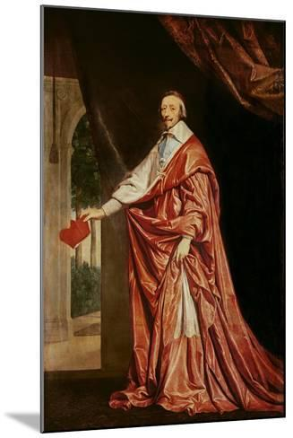 Portrait of Cardinal De Richelieu (1633-40)-Philippe De Champaigne-Mounted Giclee Print