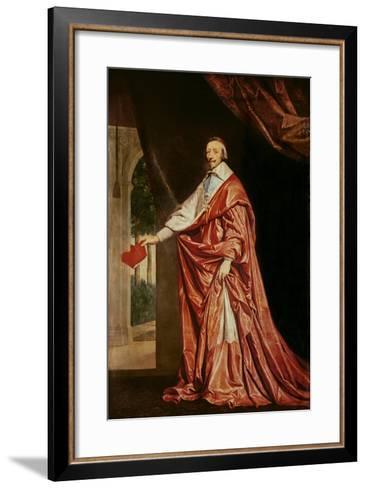 Portrait of Cardinal De Richelieu (1633-40)-Philippe De Champaigne-Framed Art Print