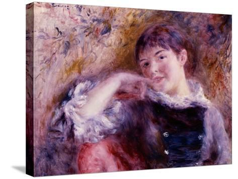 The Dreamer, 1879-Pierre-Auguste Renoir-Stretched Canvas Print