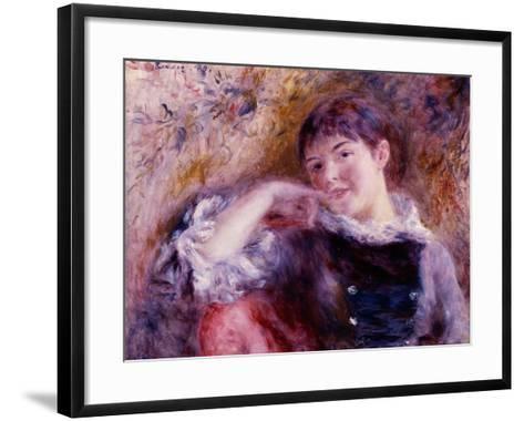 The Dreamer, 1879-Pierre-Auguste Renoir-Framed Art Print