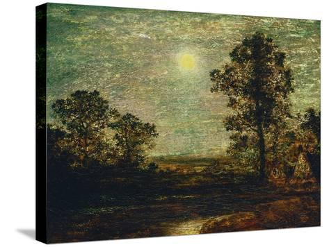Untitled (Moonlit Landscape)-Ralph Albert Blakelock-Stretched Canvas Print