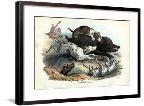 Wild Boar, 1863-79-Raimundo Petraroja-Framed Art Print