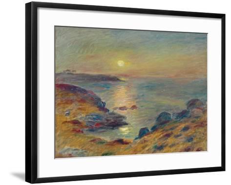 Sunset at Douarnenez, C. 1883-Pierre-Auguste Renoir-Framed Art Print