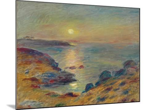 Sunset at Douarnenez, C. 1883-Pierre-Auguste Renoir-Mounted Giclee Print