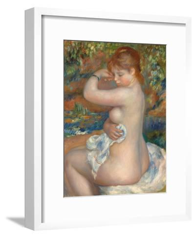Bather; Baigneuse, 1888-Pierre-Auguste Renoir-Framed Art Print